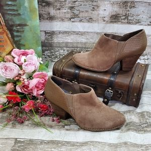 Dr. Scholl's Suede Booties, Size 7.5, EUC